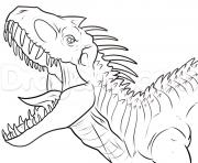 indominus rex jurassic park dinosaure dessin à colorier