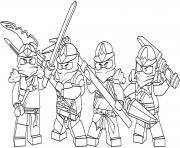 Coloriage lego ninjago team