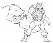 avengers thor dessin à colorier