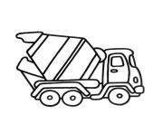 camion mercedes dessin à colorier
