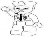 lego police man dessin à colorier