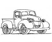 camionnette souriante dessin à colorier