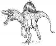 dinosaure mechant jurassic park 4 dessin à colorier