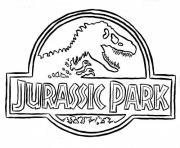 jurassic park logo dessin à colorier