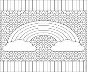 arc en ciel mandala dessin à colorier