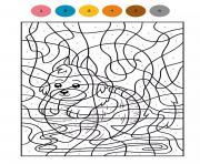 chat magique mignon dessin à colorier