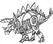 Robot Dinosaure Styracosaure dessin à colorier