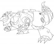 Grimlock Dinosaure Transformers  dessin à colorier