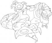 Transformers Grimlock Dinosaure Robot dessin à colorier