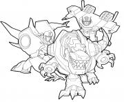 Transformers Robot Dinosaure dessin à colorier