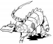 dinosaure robot nouvelle generation dessin à colorier