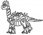 Robot Dinosaure Plateosaure dessin à colorier