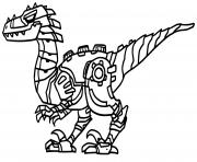 Robot Dinosaure Tyranosaure dessin à colorier
