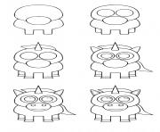 comment dessiner une licorne kawaii dessin à colorier