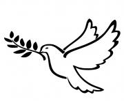 oiseau blanc paix dessin à colorier
