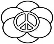 paix et plein de cercles dessin à colorier