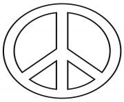 signe de la paix peace logo dessin à colorier
