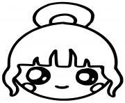 fille kawaii dessin à colorier