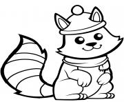 ecureuil avec un jolie chapeau dessin à colorier