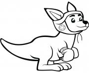 kangourou avec des gants de boxe dessin à colorier