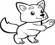 mignon bebe loup dessin à colorier