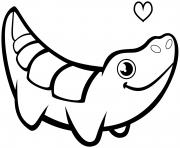 crocodiles amoureux dessin à colorier