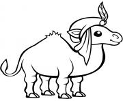 chameau en turban dessin à colorier