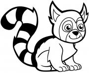 lemurien dessin à colorier
