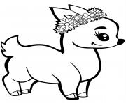fauve avec une couronne dessin à colorier