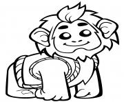 un singe mignon en gilet dessin à colorier