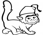 un singe mignon a fez dessin à colorier