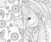 mignonne licorne pour la detente illustration style art zen dessin à colorier