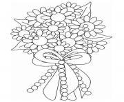 Coloriage bouquet de fleurs pour mariage dessin