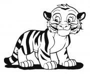 bebe tigron heureux dessin à colorier