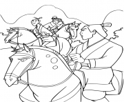 Li Shang fils du general Li dessin à colorier