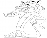 Mushu le petit dragon dessin à colorier