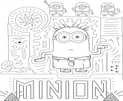 Coloriage Minion 2 en mode pharaon et visite l Egypte