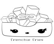 frenchie fries dessin à colorier