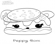 Num Nums Pizza Peppy Roni dessin à colorier