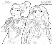 Coloriage black panther tiana and spider man rapunzel disney avengers