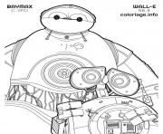 Coloriage bb 8 wall e and c 3po baymax disney star wars