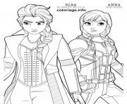 Coloriage ant man anna and scarlet witch elsa disney avengers