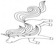 Coloriage licorne ailes tete mignon 141 dessin