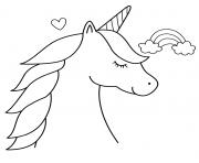 Coloriage licorne dessin mignon 64 dessin