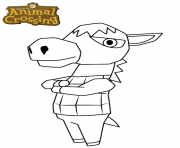 donkey animal crossing dessin à colorier