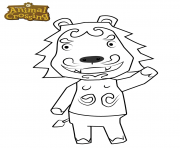 animal crossing lion dessin à colorier