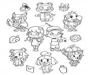 animal crossing new horizons dessin à colorier