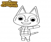 animal crossing rudy the cat dessin à colorier
