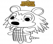 animal crossing sable dessin à colorier
