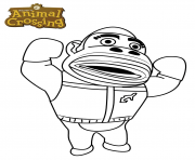 gorilla animal crossing dessin à colorier